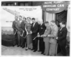 November 28, 1955 — Ribbon cutting ceremony for the American Can Company's expanded manufacturing plant